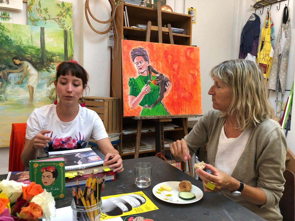 Künstlerstamm mit Lea Moser